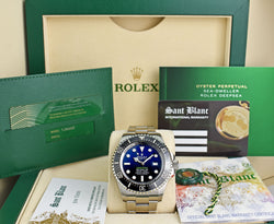 ROLEX UNWORN 44mm Stainless Steel Deepsea SeaDweller Blue James Cameron Dial Model 126660