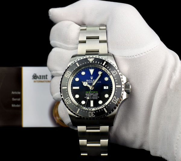 ROLEX UNWORN Stainless Steel Deepsea SeaDweller Blue Gradient James Cameron Dial Model 126660