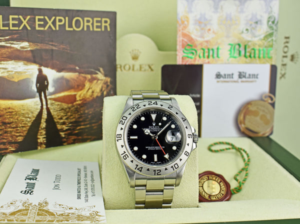 ROLEX 40mm Stainless Steel Explorer II Black Dial SEL Model 16570
