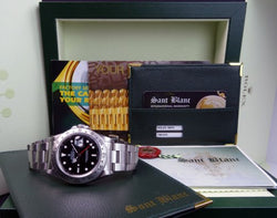 ROLEX 40mm Stainless Steel Explorer II Black Index Dial Model 16570