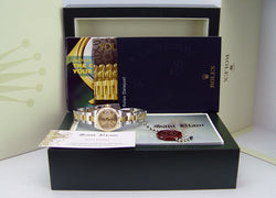 ROLEX 26mm 18kt Yellow Gold & Stainless Steel Datejust Champagne Concentric Dial Model 179173