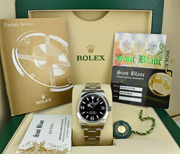 ROLEX - 39mm Stainless Steel Explorer - Black Dial - 214270
