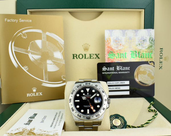ROLEX 42mm Stainless Steel Explorer II Black Dial Model 216570