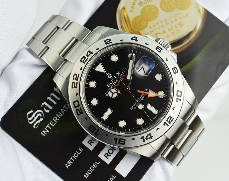 ROLEX - 42mm Stainless Steel Explorer II Black Dial 216570