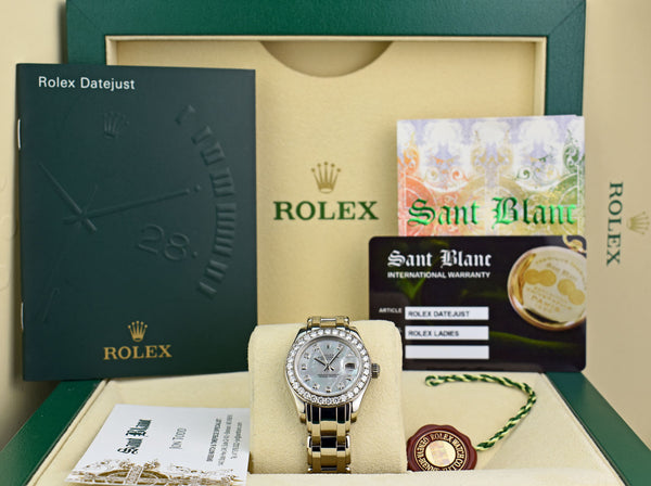 ROLEX Rehaut White Gold Pearlmaster Masterpiece Mother of Pearl Diamond Model 80299