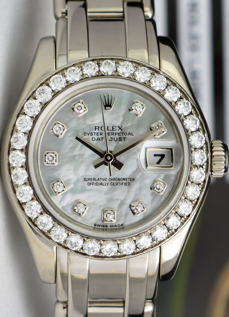 ROLEX - REHAUT White Gold Pearlmaster Masterpiece Mother Of Pearl Diamond 80299