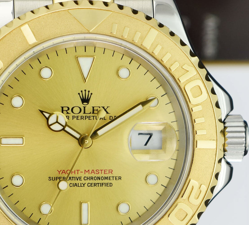 ROLEX 18kt Gold & Stainless Steel Yachtmaster Champagne Dial 16623
