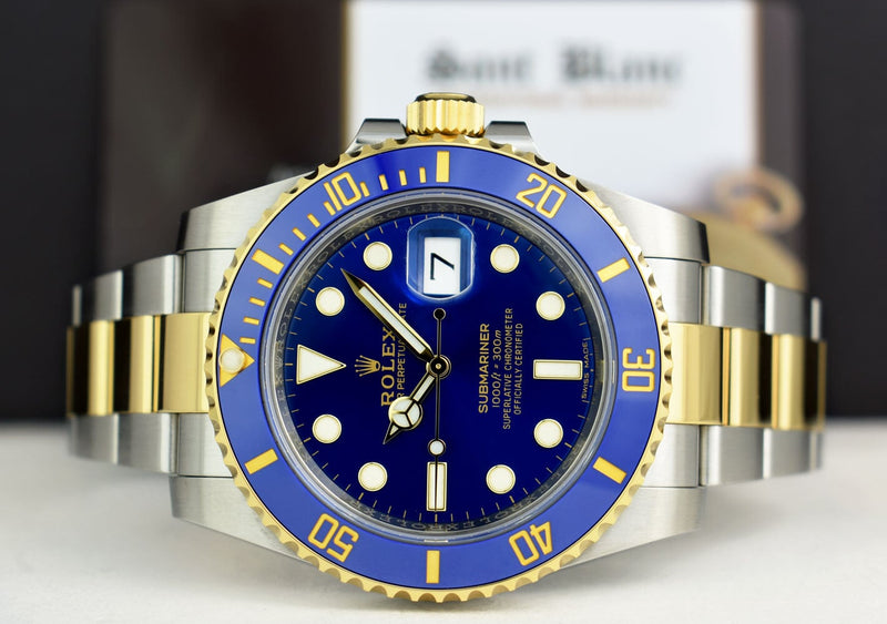 ROLEX 18kt Gold & Stainless Steel Submariner Blue Dial Model 116613LB