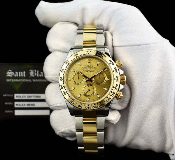 ROLEX 18kt Gold & Stainless Steel DAYTONA Champagne Index Dial Model 116503