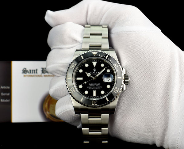 ROLEX Stainless Steel Submariner Black Ceramic Box Books Tags Model 116610