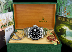 ROLEX Mens Vintage Stainless Steel Submariner Black Dial Model 16610