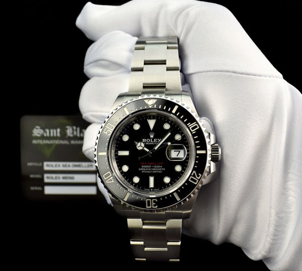 ROLEX Mens 43mm Stainless Steel Sea Dweller Black Mark II Dial Model 126600