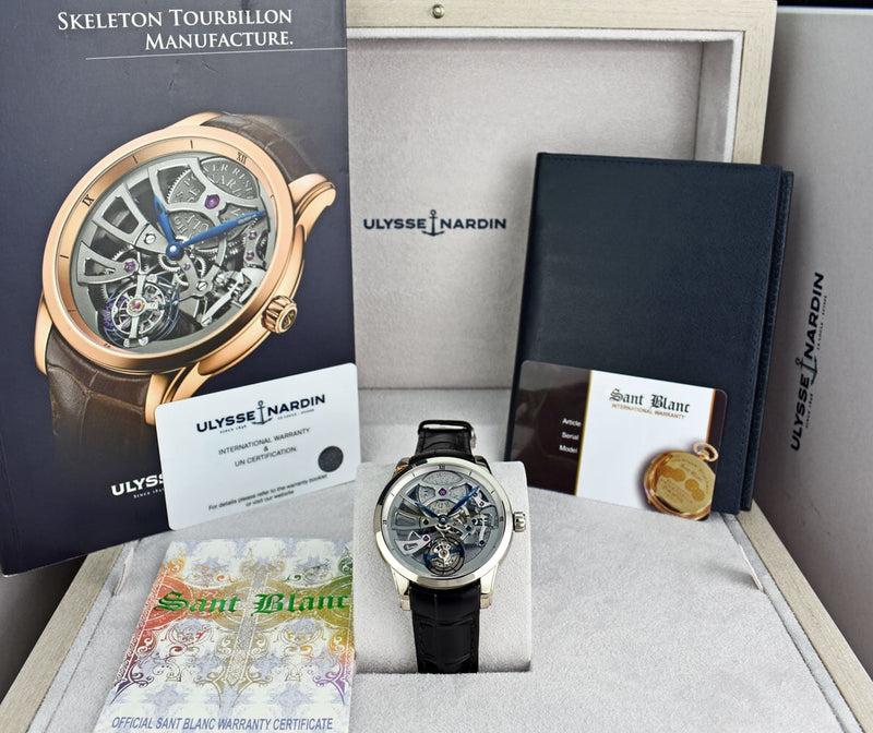 ULYSSE NARDIN Skeleton Tourbillon Alligator Strap BOX & CARD 1700-129