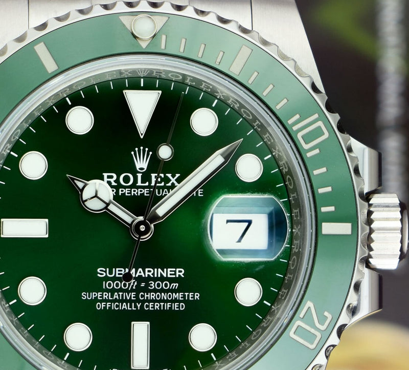 ROLEX 2019 Mens Stainless Steel SUBMARINER Green CERAMIC HULK 116610LV