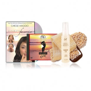 Ultimate Set: Facercise & No Lipo DVD [PAL*] + Sisal Louffas + Nourishing E-Oil