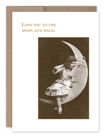 little girl on moon love