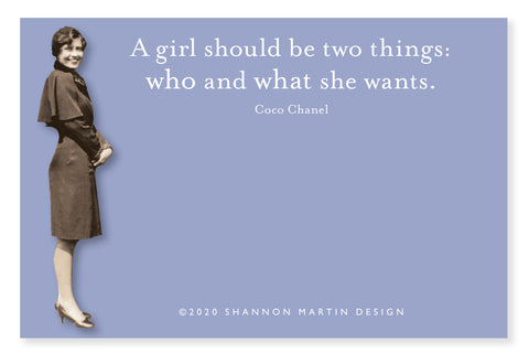 a girl should be two things