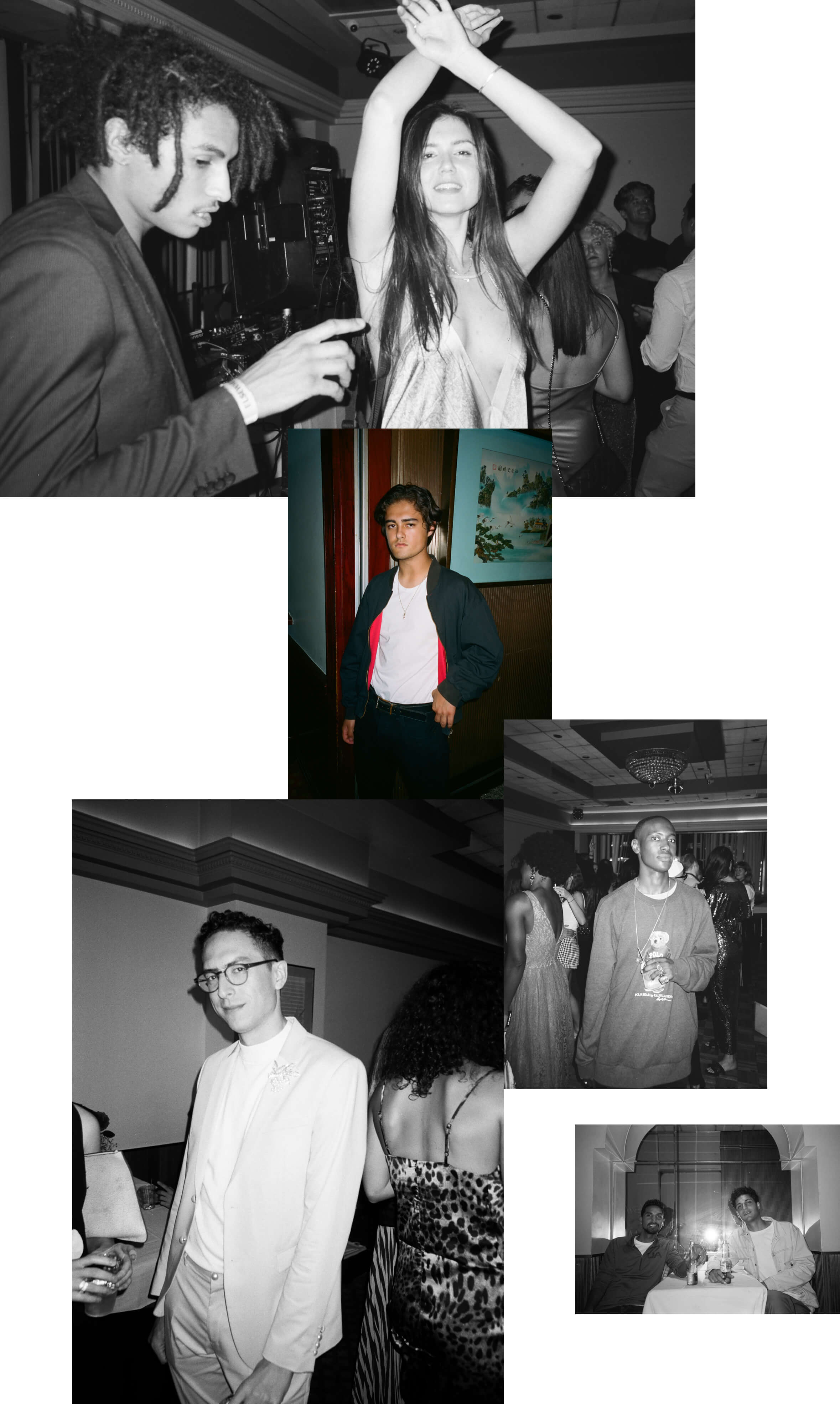 full width image collage of people dancing at BABOON prom night