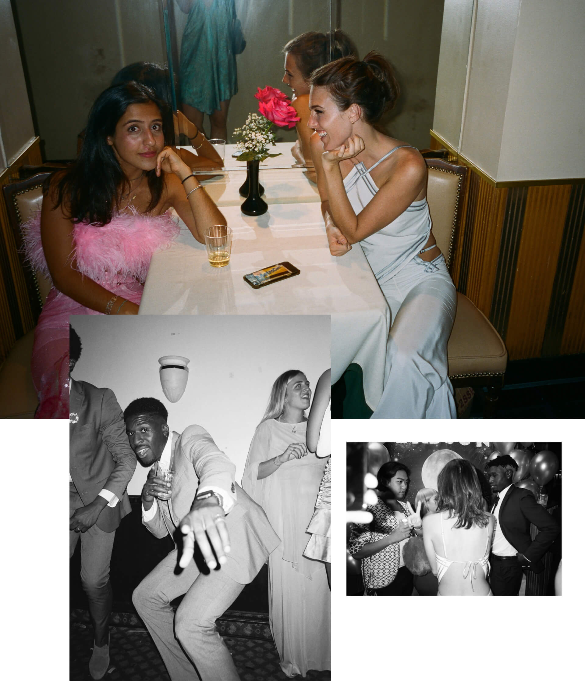 edge to edge spacer collage of people enjoying BABOON prom
