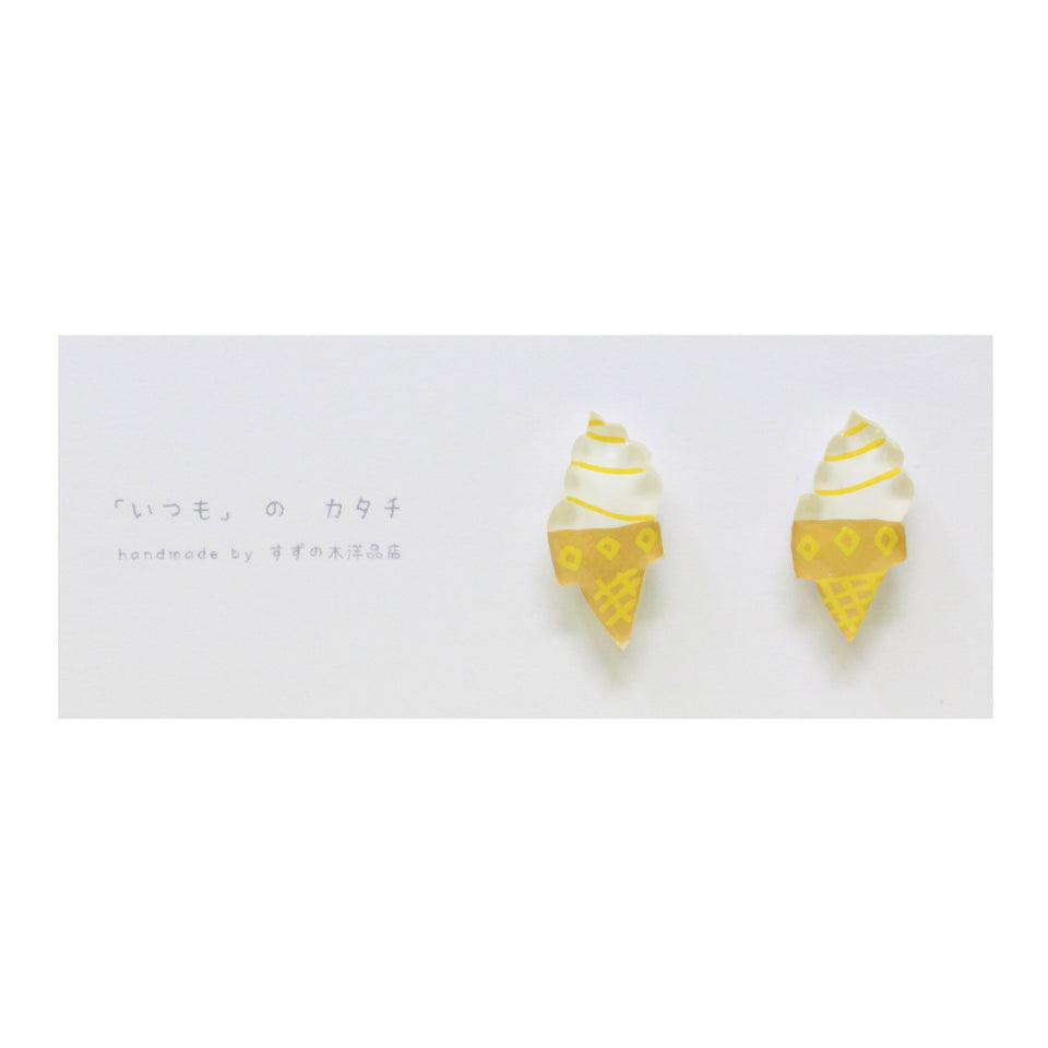 Suzunoki Youhinten Soft Cream Earrings