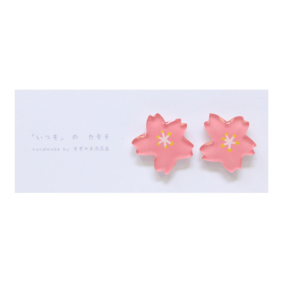 Suzunoki Youhinten Sakura Earrings