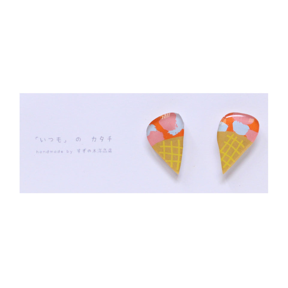 Suzunoki Youhinten Ice-cream Earrings