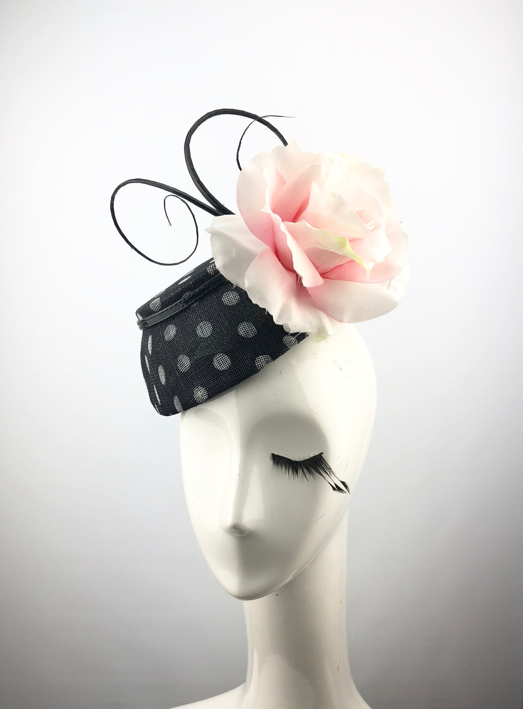 Black and White Polk-a-dot Headpiece