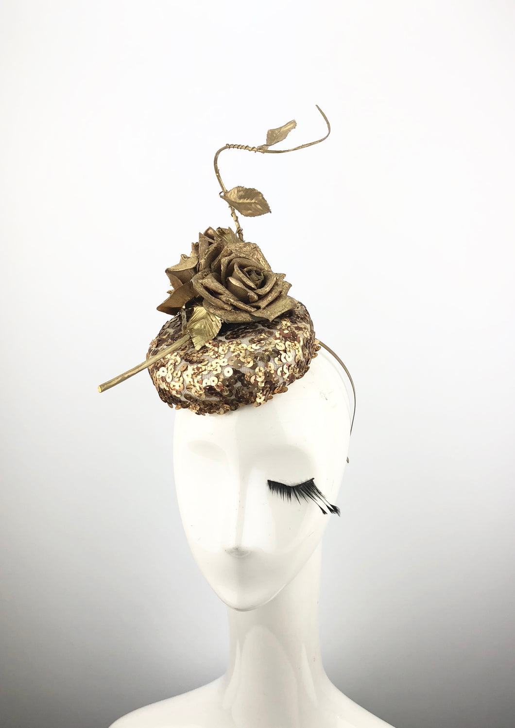 Gold Round Headpiece