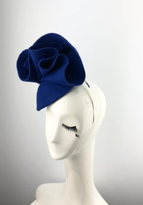 Royal Blue Felt Headpiece