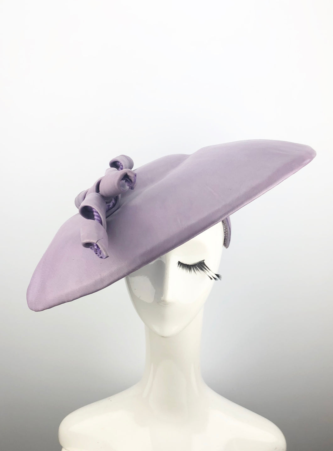 Lavender Leather Hat