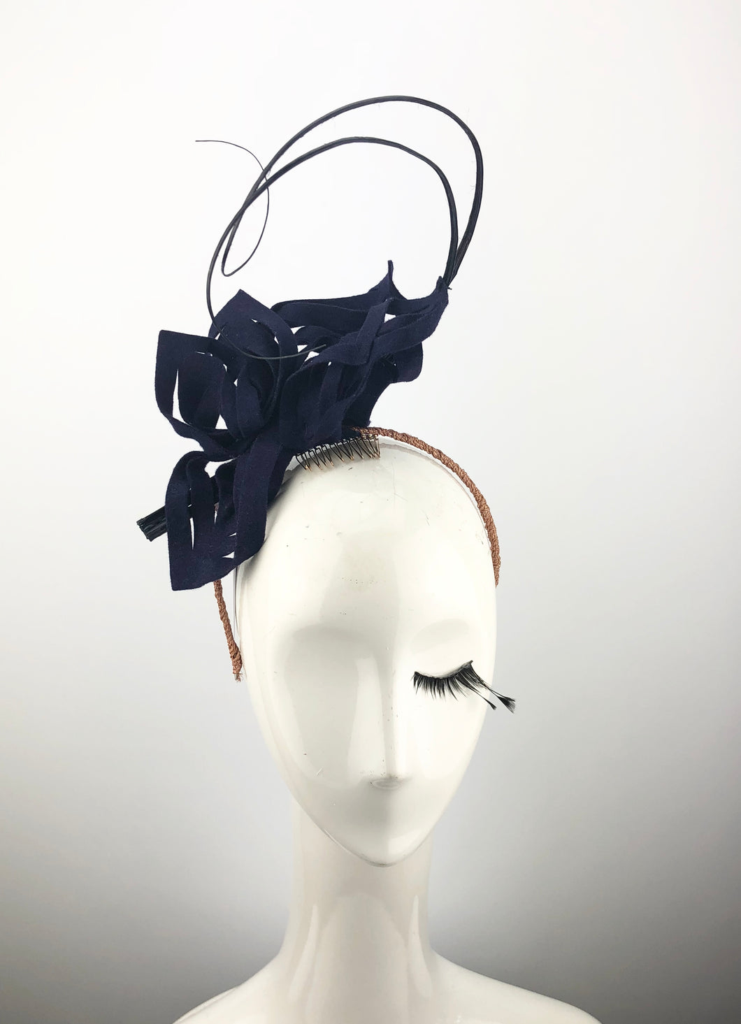 Navy Felt Snowflake Headpiece