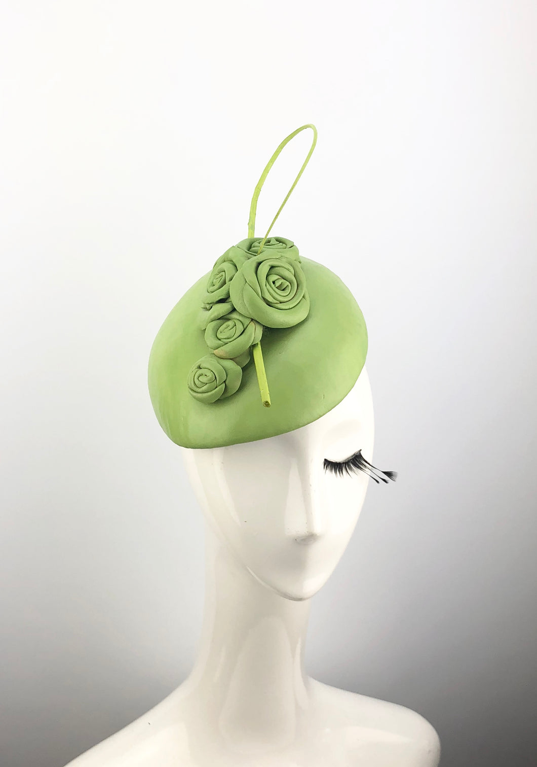 Green Leather Headpiece