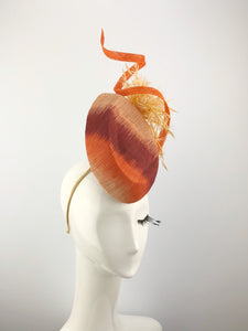 Burnt Orange Tinalak Straw Headpiece