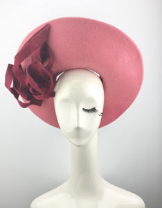 Pink Felt Halo with Maroon Sculptured Accents