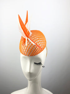 Orange Thermoplastic and White Headpiece