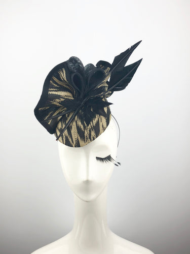 Black and Cream Headpiece