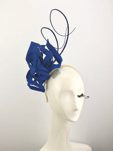 Blue Felt Snowflake Headpiece