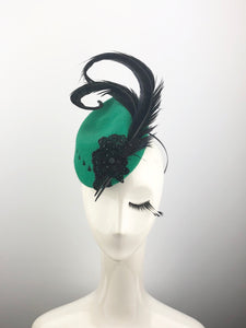 Green Felt Crest Headpiece