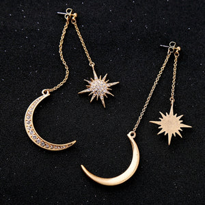 Moon & Stars Swing Earrings