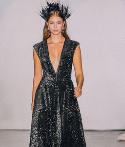Feather Crown Black NYFW