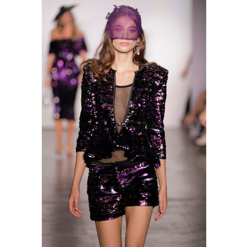 Lace Embellished Purple Visor