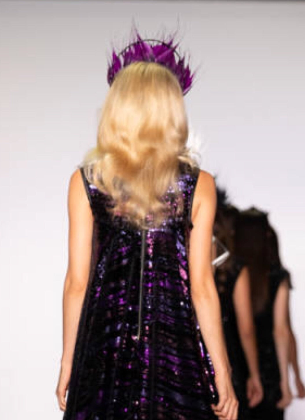 Feather Crown Black & Purple NYFW