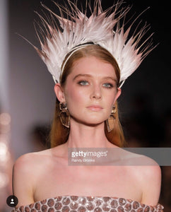 Feather Crown Rose Gold NYFW