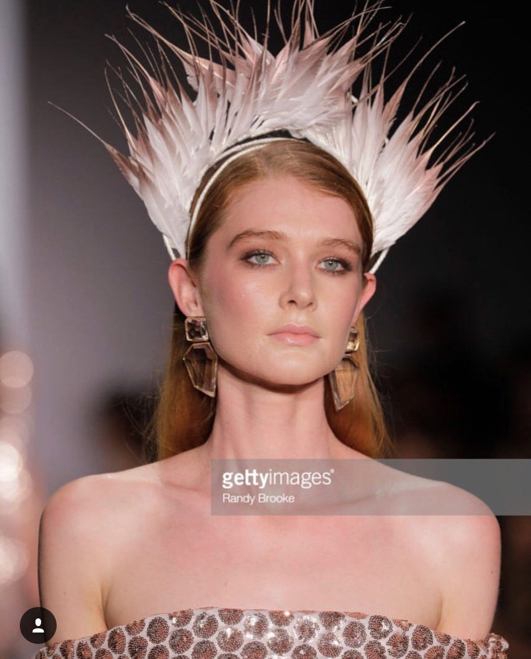 Feather Crown White & Rose Gold NYFW