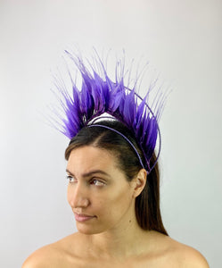 Purple Ombré Feather Crown
