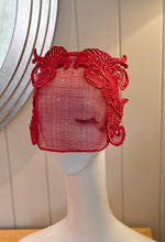 Red Lace Embellished Visor