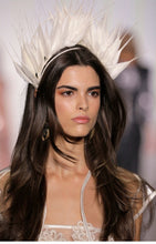 Feather Crown Ivory White NYFW