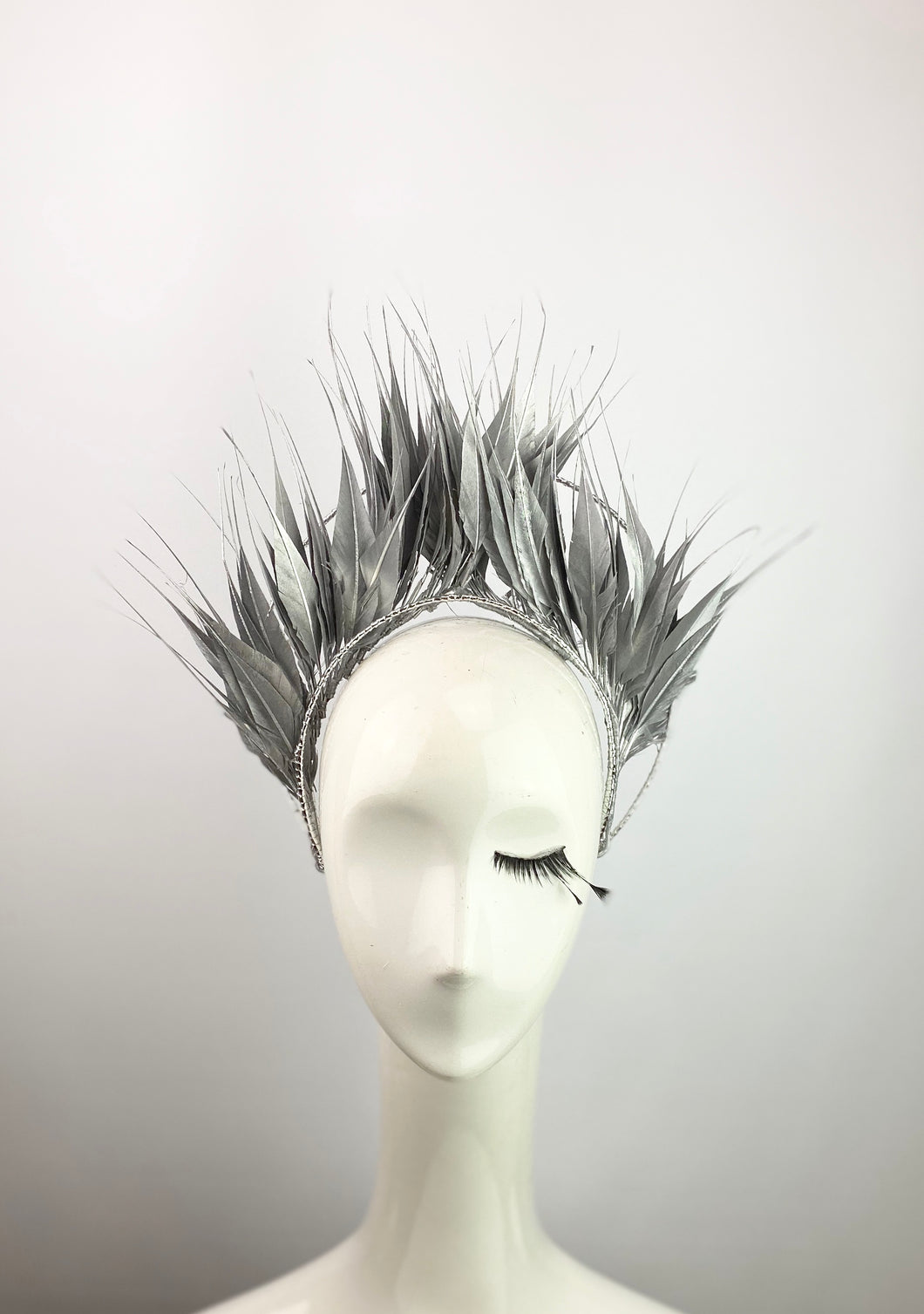 Silver Feather Crown