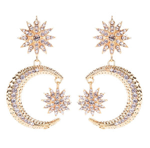 Large Celestial Earring - Gold & Silver