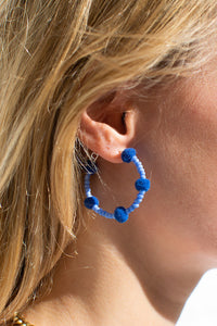 Mid Blue Bubble Hoops